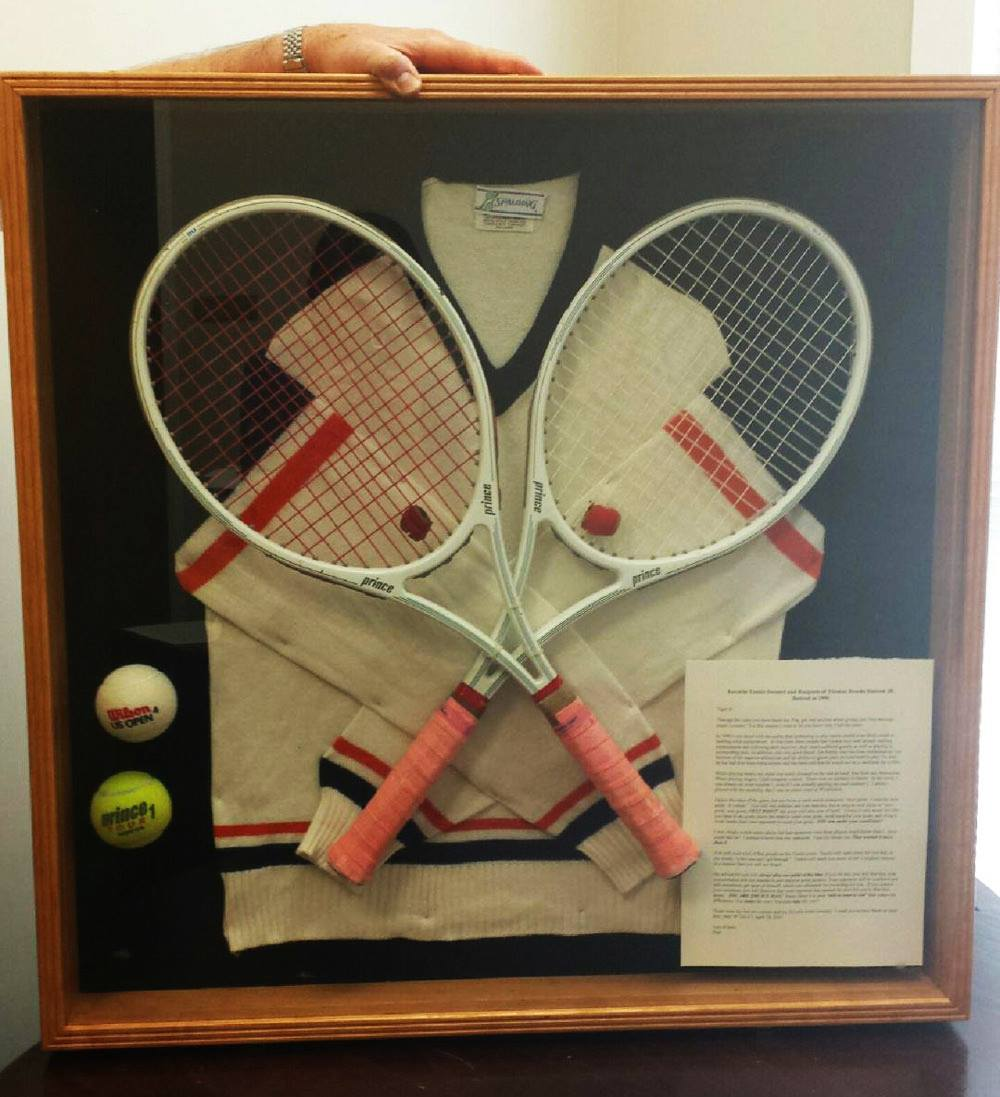 tennis memorabilia shadow box
