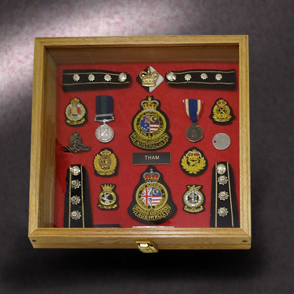 18x18 Shadow Box for Military Service Medals