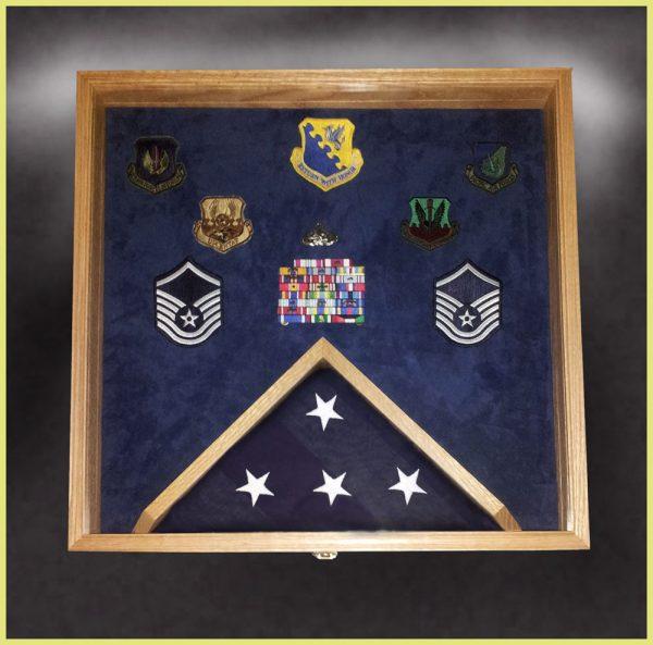 Military Retirements and Memorabilia Shadow Box