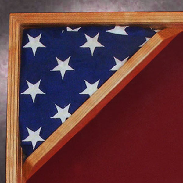 shadow box with flag