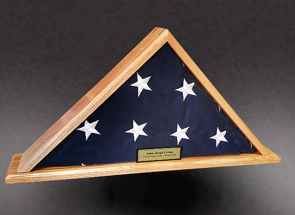 Red Oak Case for a 4x6 Flag