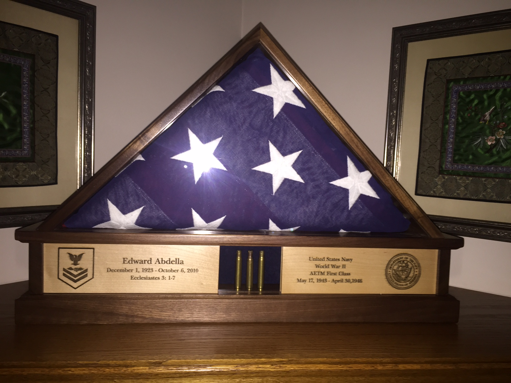 5x9 Burial Flag Case