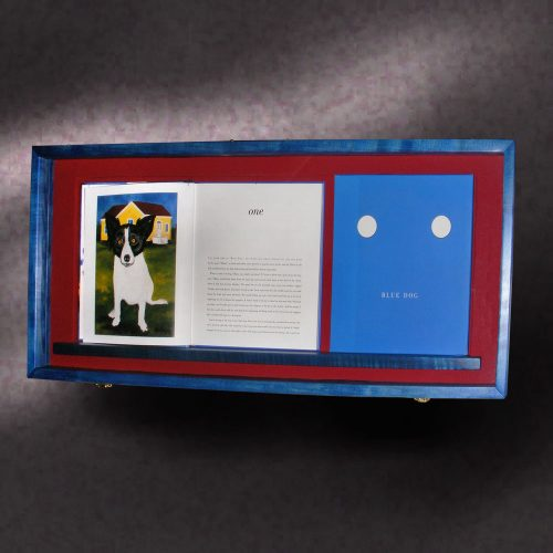 Blue Dog Shadow Box