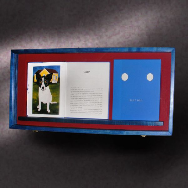 Blue Dog Shadow Box