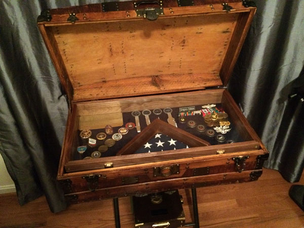 shadow box for steamer trunk
