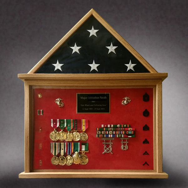 Marine Retirement Flag Case