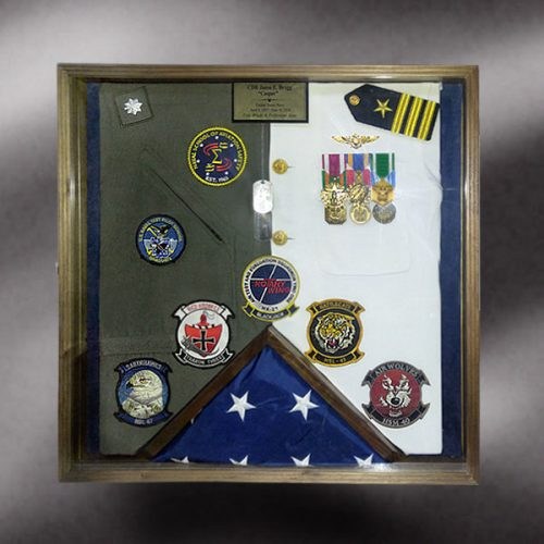 Navy shadow box