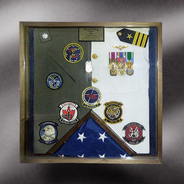 Navy shadow box