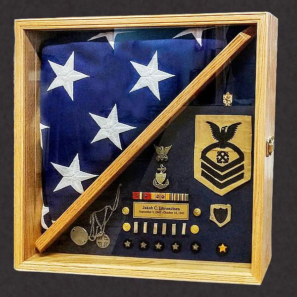 Shadow Box for a Veteran's Burial Flag