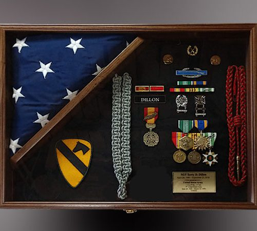 Military Shadow Box with 4x6 flag