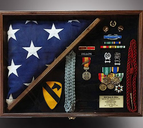 Walnut Shadow Box for veteran
