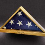 Memorial Flag Case with Laser Engraving