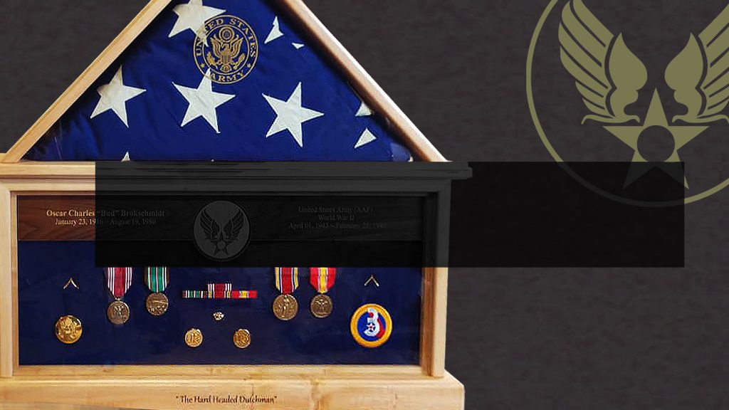 Custom Flag Case for Army Air Corps Veteran