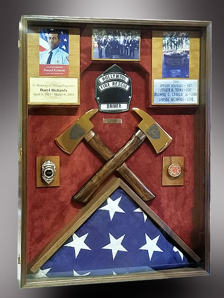 Firefighter Memorial Shadow Box