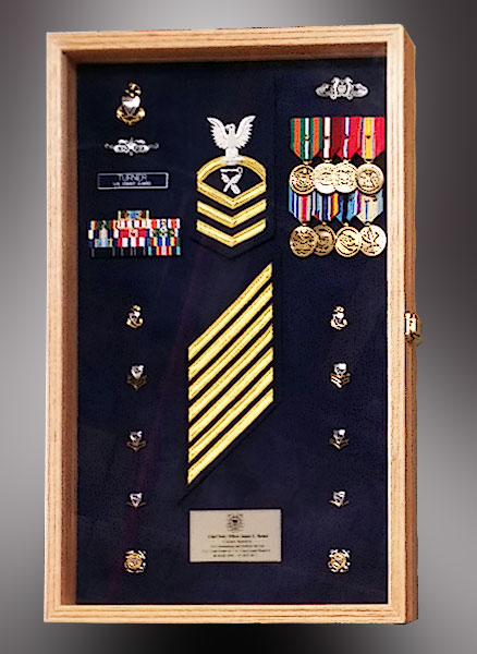 Shadow Box for US Navy Retirement