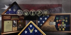 Custom Wood Shadow Boxes and Flag Cases for Veterans, Police and First Responders