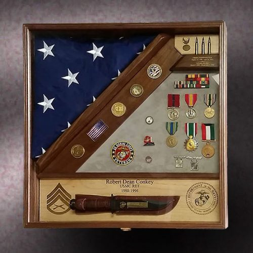 Marine Retirement Shadow Box