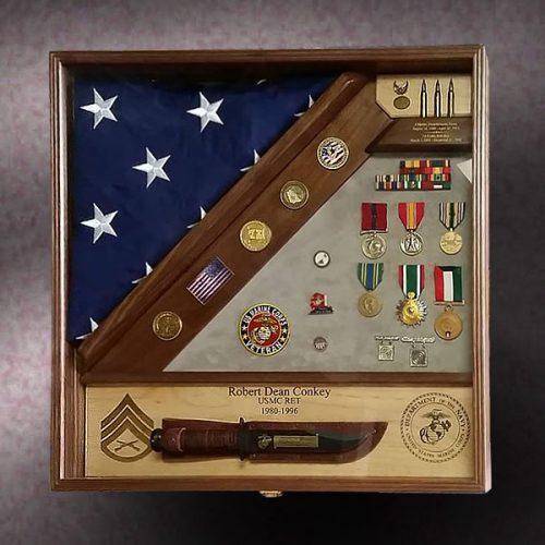Marine Retirement Shadow Box