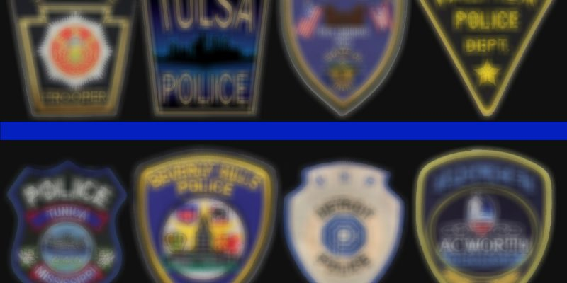Flag Cases for Fallen Police Officers