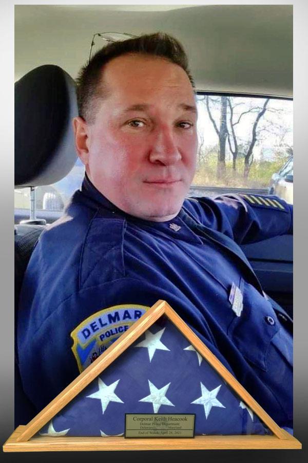 Corporal Keith Heacook, Delmar PD, Delaware