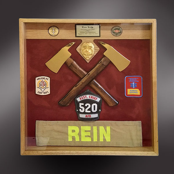 Assistant Fire Cheif Shadow Box