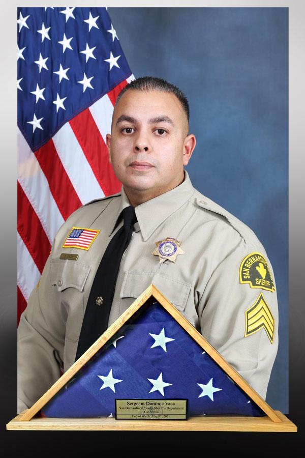 Sergeant Dominic Vaca flag case