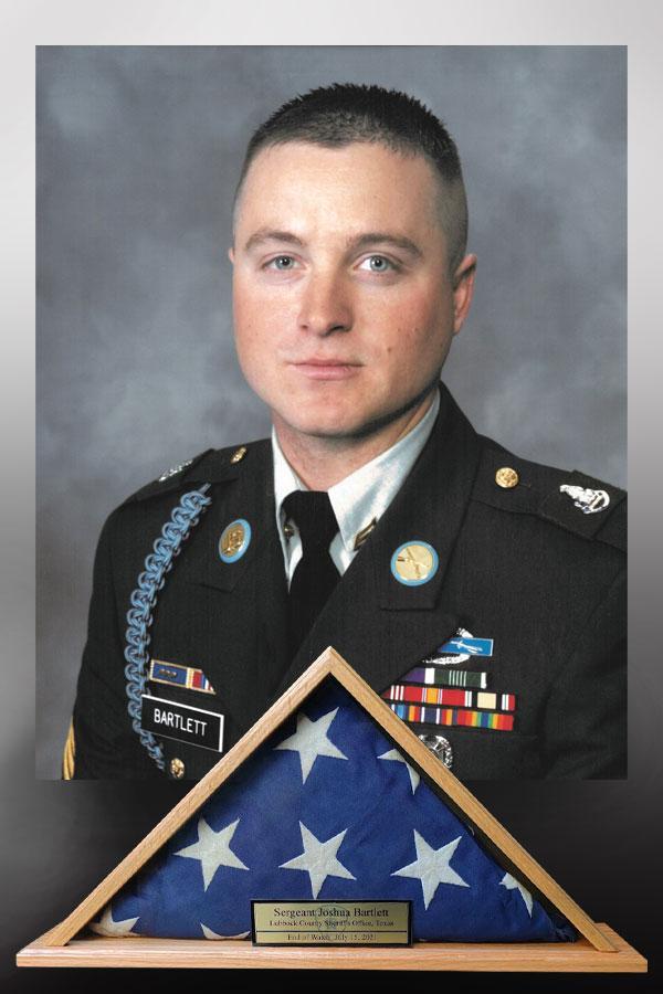 Sgt. Joshua Bartlett EOW Flag Case
